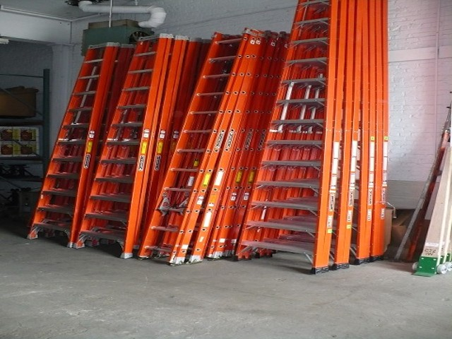 FIBERGLASS LADDERS 4'-16' STEP LADDERS AND 20'-40' EXTENSION LADDERS