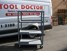 4-SHELF METAL ROLLING CART